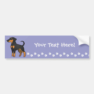 Cartoon Doberman Pinscher (floppy ears) Bumper Sticker