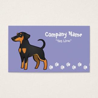 Cartoon Doberman Pinscher (floppy ears) Business Card