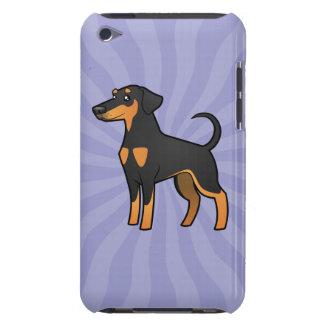 Cartoon Doberman Pinscher (floppy ears) iPod Touch Case-Mate Case