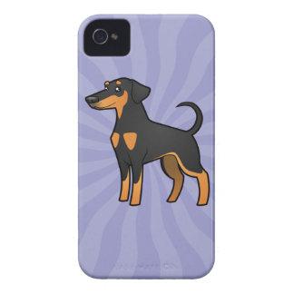 Cartoon Doberman Pinscher (floppy ears) Case-Mate iPhone 4 Cases