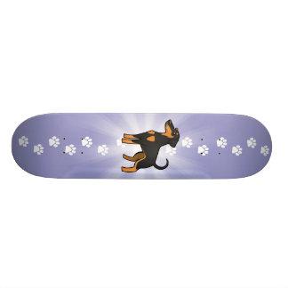 Cartoon Doberman Pinscher (floppy ears) Skate Board
