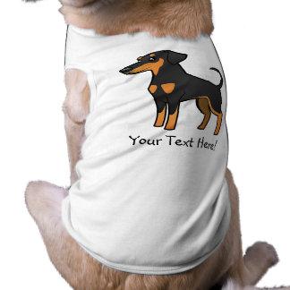 Cartoon Doberman Pinscher (floppy ears) Sleeveless Dog Shirt