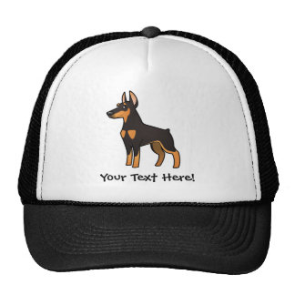 Cartoon Doberman Pinscher (pointy ears) Cap