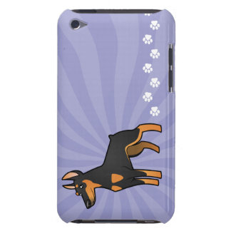 Cartoon Doberman Pinscher (pointy ears) iPod Touch Cases