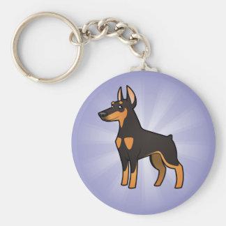Cartoon Doberman Pinscher (pointy ears) Key Ring