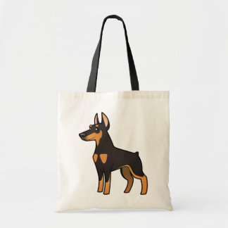 Cartoon Doberman Pinscher (pointy ears) Tote Bag