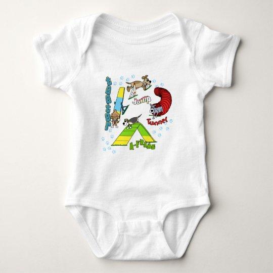 Cartoon Dog Agility Infant Creeper