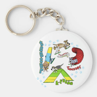 Cartoon Dog Agility Keychain