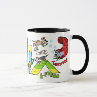 Cartoon Dog Agility Mug
