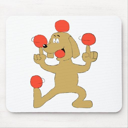 Cartoon Dog Balancing Balls Mousepads