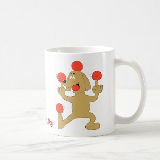 Cartoon Dog Balancing Balls Mug
