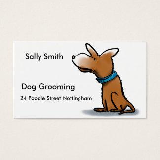 Cartoon dog business card IE: dog grooming