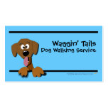 Cartoon Dog Business Card Template (blue)
