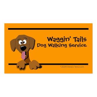 Cartoon Dog Business Card Template orange