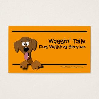 Cartoon Dog Business Card Template (orange)
