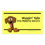 Cartoon Dog Business Card Template (yellow)