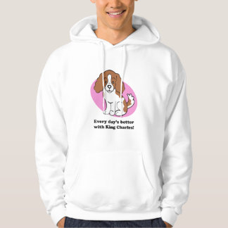 Cartoon Dog Cavalier King Charles Hoodie