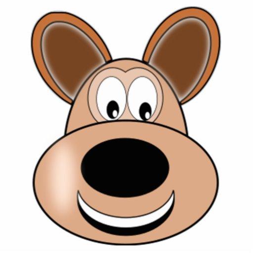 Cartoon Dog Face Photo Sculpture | Zazzle