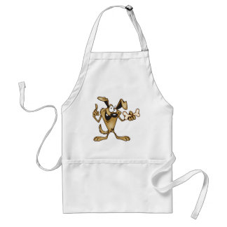 Cartoon Dog Holding a Bone Standard Apron