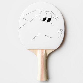 Cartoon dog ping pong paddle