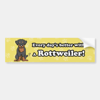 Cartoon Dog Rottweiler Bumper Sticker
