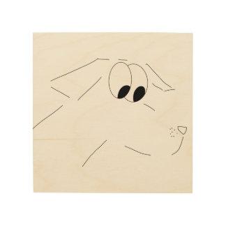 cartoon dog wood print