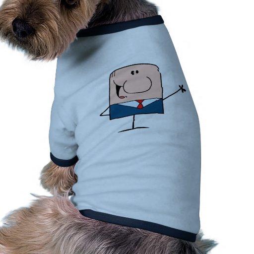 Cartoon Doodle Businessman Waving Dog Shirt
