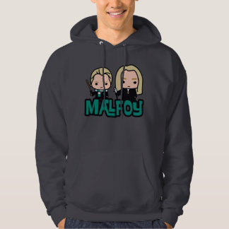 Cartoon Draco and Lucius Malfoy Character Art Hoodie