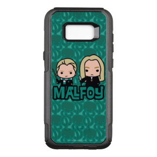 Cartoon Draco and Lucius Malfoy Character Art OtterBox Commuter Samsung Galaxy S8+ Case