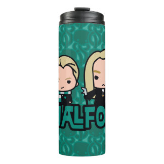 Cartoon Draco and Lucius Malfoy Character Art Thermal Tumbler