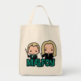 Cartoon Draco and Lucius Malfoy Character Art Tote Bag