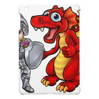 Cartoon Dragon and Knight iPad Mini Cases
