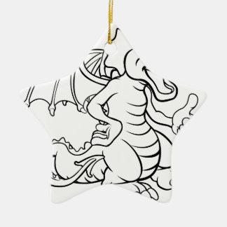 Cartoon Dragon Christmas Ornament