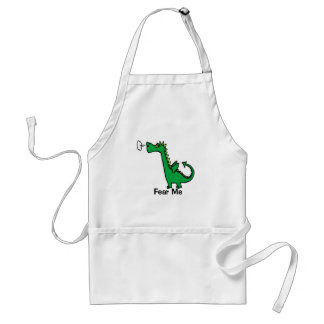 Cartoon Dragon Fear Me Standard Apron