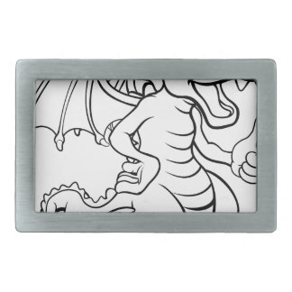Cartoon Dragon Rectangular Belt Buckle