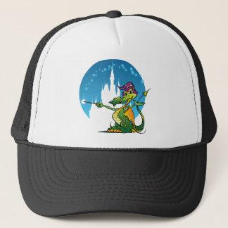 Cartoon Dragon Wizard Trucker Hat