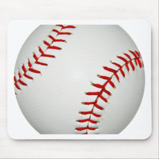 Cartoon Drawn American Baseball Mouse Mat