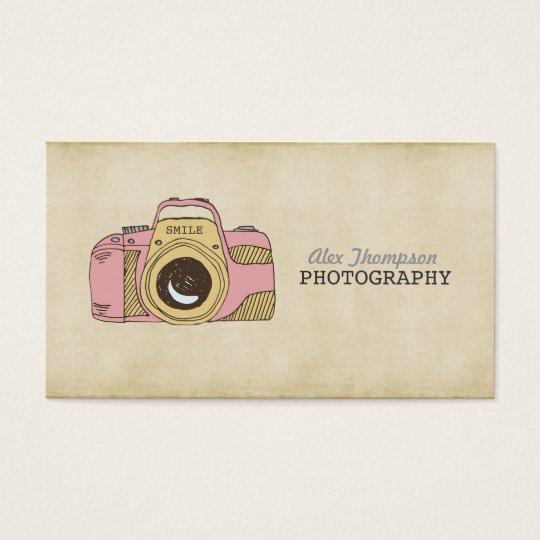 Cartoon DSLR Camera Photography Business Cards