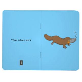 Cartoon duck-billed platypus journal