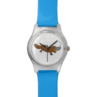 Cartoon duck-billed platypus wrist watch