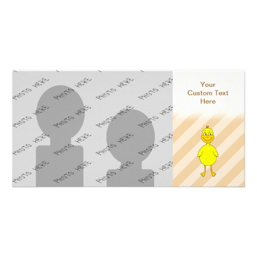 Cartoon Duck. Picture Card