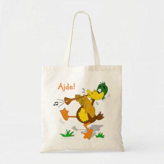 Cartoon Duck Playing Zurna Tote Bag