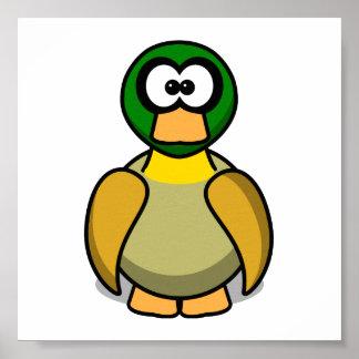 Cartoon Duck Poster