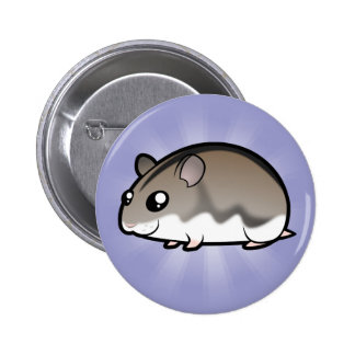 Cartoon Dwarf Hamster 6 Cm Round Badge