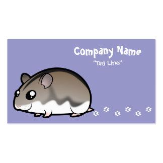 Cartoon Dwarf Hamster Business Cards