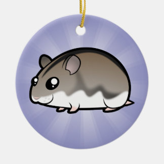 Cartoon Dwarf Hamster Christmas Ornament
