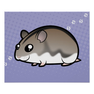 Cartoon Dwarf Hamster Poster