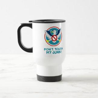 Cartoon Eagle Don't Touch My Junk Funny TSA Logo Stainless Steel Travel Mug