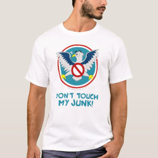 Cartoon Eagle Don't Touch My Junk Funny TSA Logo T-Shirt