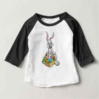 Cartoon Easter Bunny Egg Hunt Baby T-Shirt